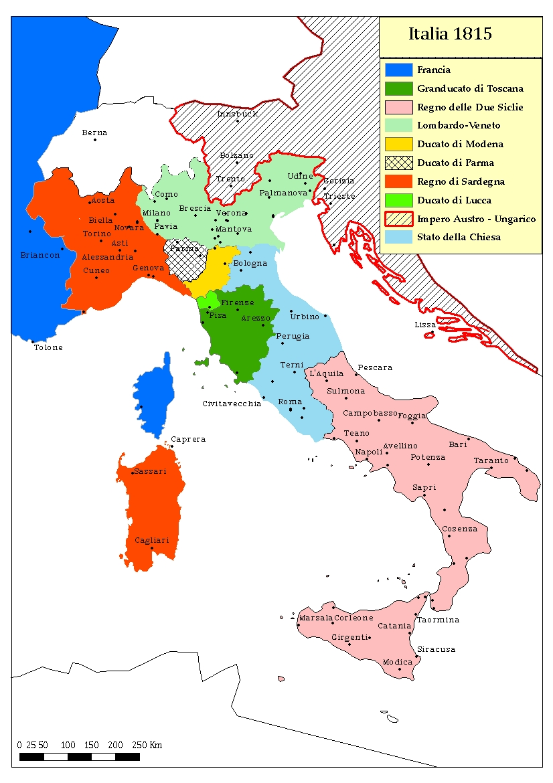 Cartina Italia Prima Dell Unificazione.La Scuola Per I 150 Anni Dell Unita D Italia La Geografia