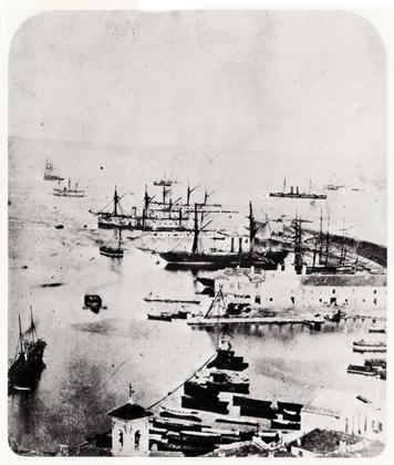 Ancona. La flotta italiana nel porto dopo la battaglia di Lissa - 21 luglio 1866