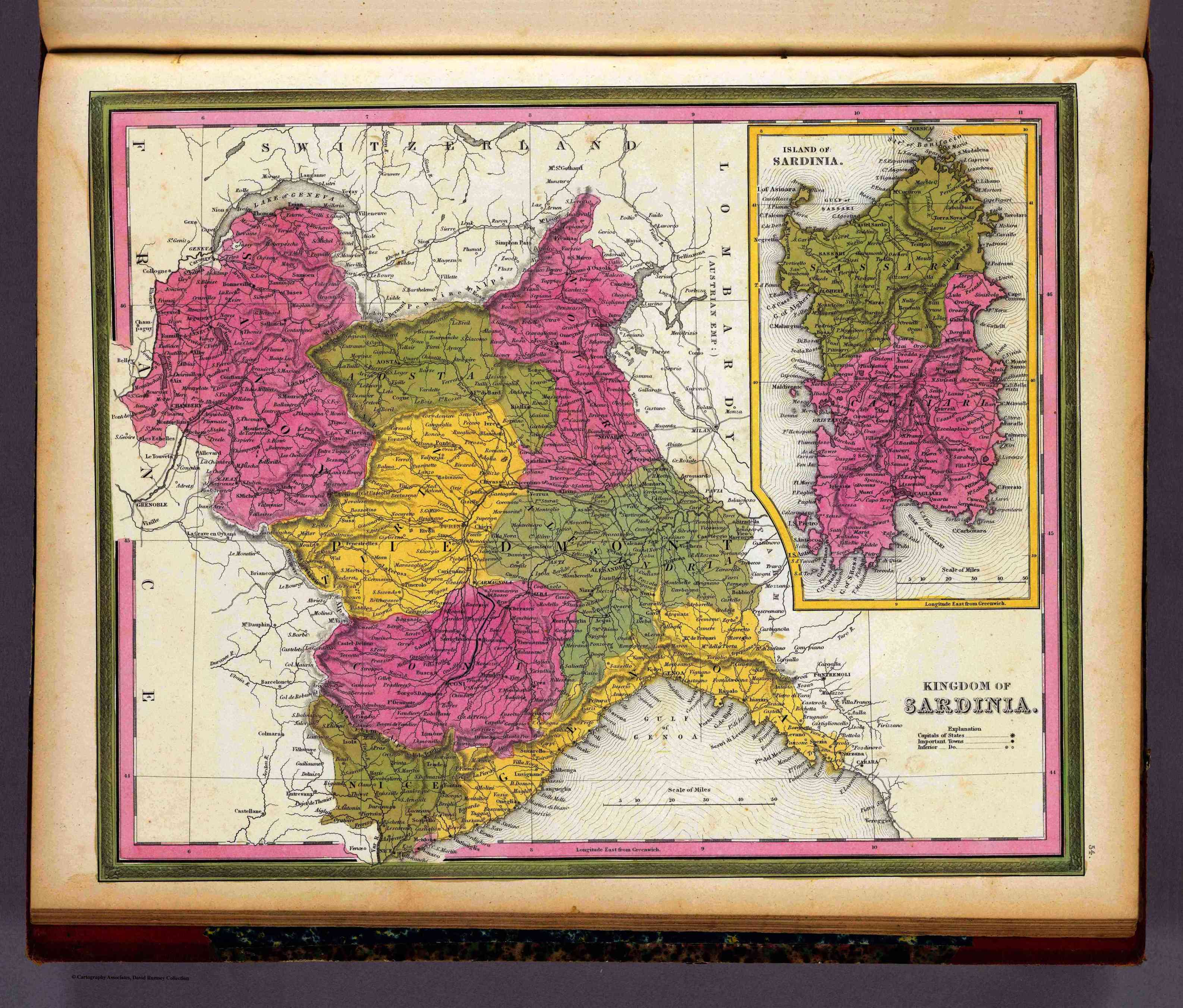 Cartina Del Regno Di Sardegna.01 Regno Di Sardegna