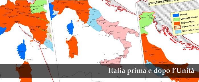 Cartina Del Regno Di Sardegna.La Scuola Per I 150 Anni Dell Unita D Italia L Italia Negli Anni